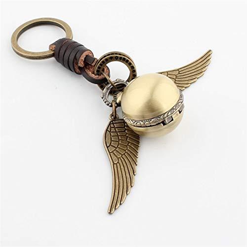 Dltmysh Llavero 2021 New Llavero Tiempo Turner Watch Golden Snitch Pendiente Llavero Bohemia Estilo Vintage Angel ala Encanto