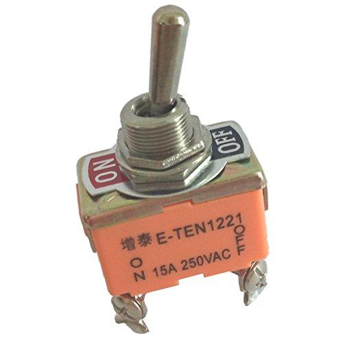 SDENSHI Interruptor de Palanca, On Off 2 Posiciones 4 Pines, CA 250V 15a
