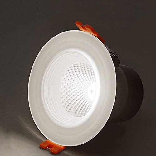 ZMY 3W 6.6cm Downlight Ultrafino DIRIGIÓ Luz Redonda de Techo Lámpara de Panel luminaria Luz Caliente Ajustable/luz Blanca DIRIGIÓ Iluminación empotrada (Size : 6000K White Light)