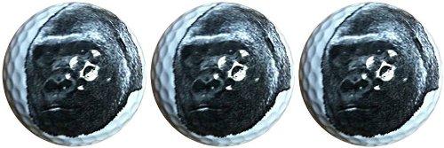 Gorilla Face Novelty Golf 3 Ball Sleeve
