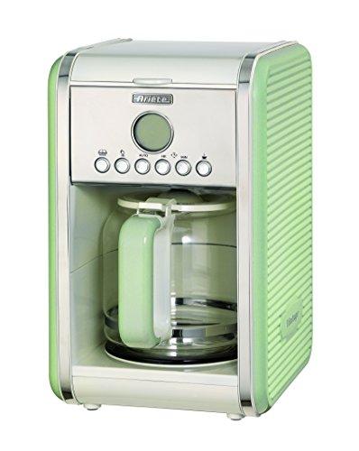 Ariete 1342/04-green 1342 1342GR 12-Tassen-Kaffeemaschine Vintage, 2000 W, grün, Edelstahl, rostfrei