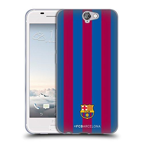 Head Case Designs Offizielle FC Barcelona Streifen Wappen Soft Gel Handyhülle Hülle Huelle kompatibel mit HTC One A9