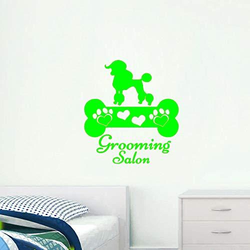 zqyjhkou Schöne Hunde Knochen Vinyl Wandaufkleber Abnehmbare Wandtattoo Haustier Hund Kunst Wandtattoos Pflege Salon Decor Künstlerische Design 4 44X48 cm