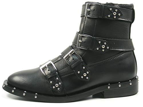 Bronx Bwagonx 46994-A-01 Schuhe Damen Chelsea Boots Biker Stiefeletten, Größe:38 EU, Farbe:Schwarz
