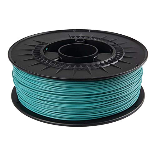 PLA Filament 1.75 mm 1 kg for 3D Printers in RAL Colours (Turquoise Blue RAL 5018)