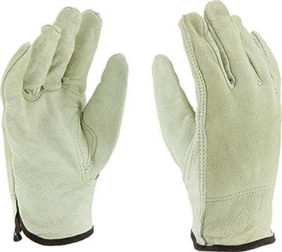 West Chester 9940K Premium Grain Pigskin Leather Driver Work Gloves: Keystone Thumb, 12 Pairs