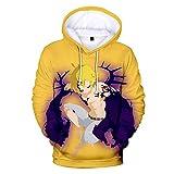 Anime Pulóver Siete Pecados Capitales Sudadera con Capucha Suéter para Hombre Chaqueta Sudadera Manga Larga Unisex Amarillo 3XL