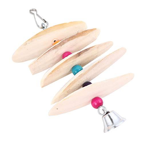 Balacoo Vogel Sepiaschale für Sittiche- Papagei Spielzeug Kauen Vogel Spielzeug Sepiaschale Schnabel Schleifen Stein Käfig Hängen Spielzeug mit Glocke Kalzium Ergänzung Vogel Lieferungen