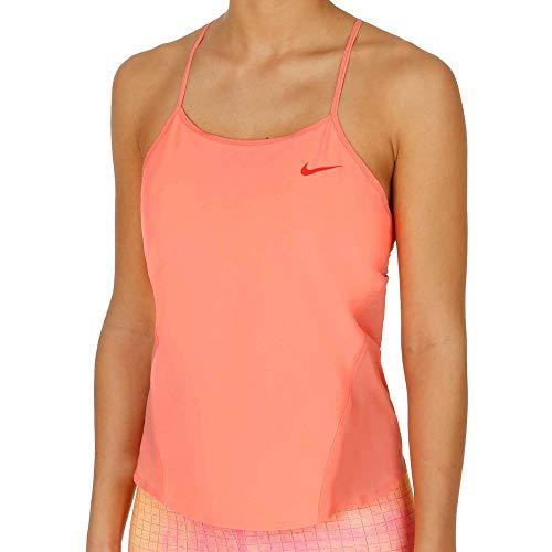 Nike Damen Tanktop Premier Strappy, Lava Glow/Bright Crimson, L