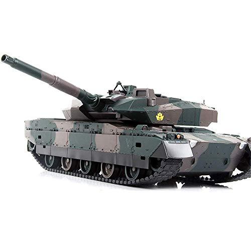 Tanque RC eléctrico de alto tamaño de 40 cm militar táctico todo terreno rastreado tanque de control remoto modelo para niños niños (regalo de cumpleaños de día festivo)