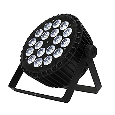 SHEHDS LED Par Light 18x12W RGBW 4in1 DJ Lights by DMX512 Control Stage Lighting for Club, Parties, Lives, Wedding