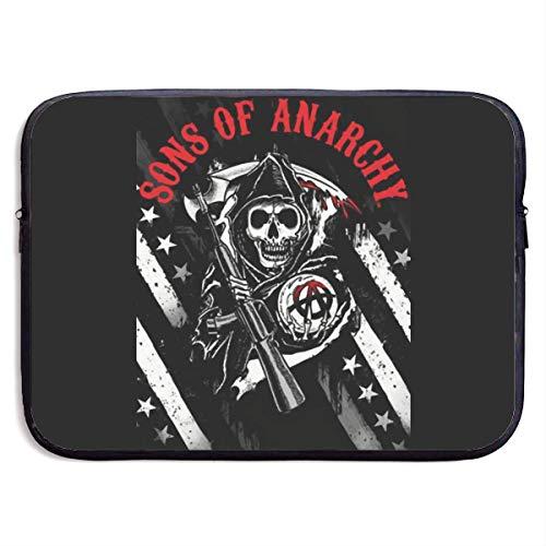 Sons of Anarchy Laptop Bag Laptop Case Briefcase Messenger Shoulder Bag for Men Women 15 Inch Black