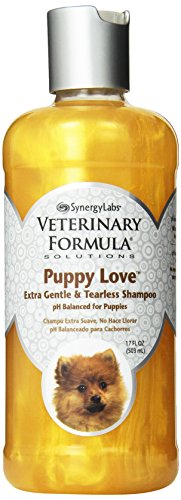 Veterinary Formula Solutions Puppy Love Extra Gentle Tearless Shampoo, 17 oz – Safe for Puppies Over 6 Weeks –Puppy Shampoo with Fresh Scent, Long-Lasting Clean – Cleanses Without Drying Delicate Skin