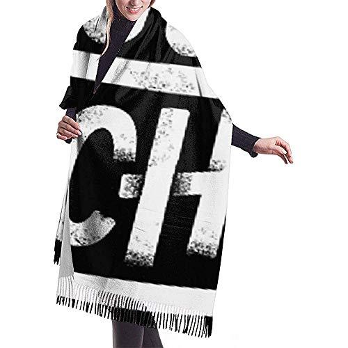 Laglacefond Deus Ex Machina Damessjaal met franjes warme, elegante wikkelsjaal van kasjmier voor de herfst en winter