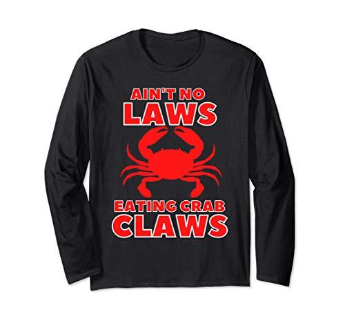 Blue Claws Crab Angelausrüstung Ain't Keine Gesetze Bier Langarmshirt