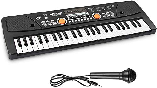 AIMEDYOU Kids Keyboard Piano, Electronic Digital Piano with Double Built-in Speaker, Microphone,...
