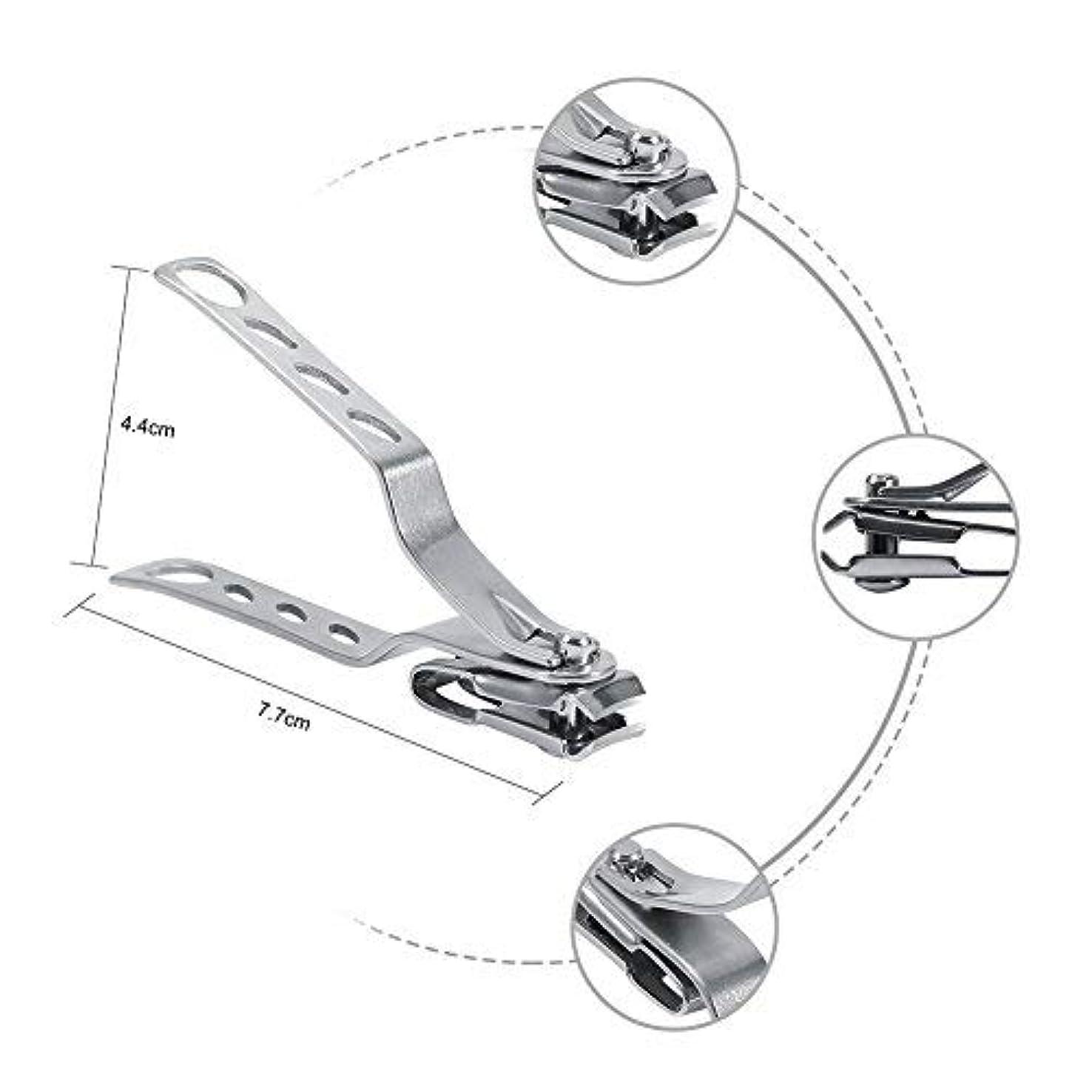 シャワーアニメーション聴覚障害者1PCプロフェッショナルステンレススチールスモールネイルクリッパーキューティクルカッターニッパー回転ヘッド付き