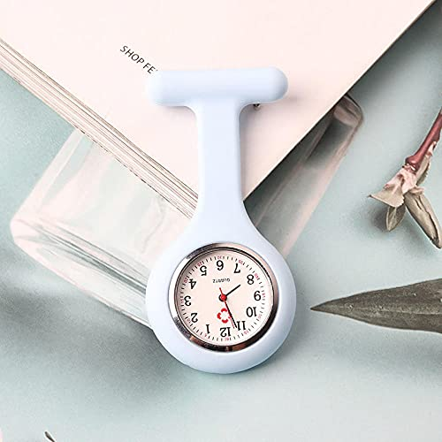 LLRR Enfermera Clip Reloj De Bolsillo,Mesa de Enfermera Luminosa de Dibujos Animados, el Clip de Estudiante se Puede Estirar con una mesa-12,Reloj Médico de Bolsillo