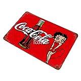 XREE Letrero de lata de Betty Boop Coke Art vintage accesorios para el hogar displate Tin Sign placas de metal retro pintura hierro Rusty Poster 30 x 40 cm