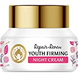 Mom & World Repair + Renew Youth Firming Night Cream, 50gm - With Vitamin C, Retinol For Smooth & Bright and Younger Looking Skin