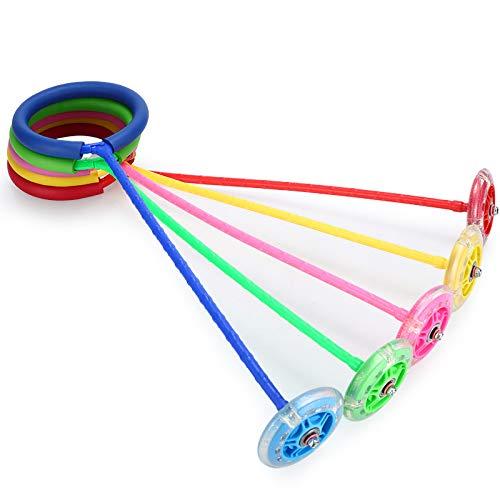 Flash Jump Kinder Kindergarten Einbein-Sprungball Jump Ring Dazzle Tanzen Licht Spielzeug Vitalität Springen, grün