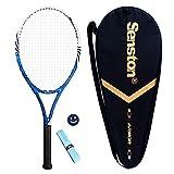 Senston Raqueta de Tenis Unisex,Incluido Bolsa de Tenis / 1 Grip / 1 Amortiguadores