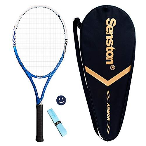Senston Raqueta de Tenis Unisex,Incluido Bolsa de Tenis / 1 Grip / 1 Amortiguadores,Azul