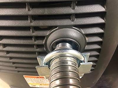 """GenExhaust Compatible with Honda EU2200i/EU2000i/EU1000i Generator 1"""" Steel Exhaust Extension 8 Foot Length."""