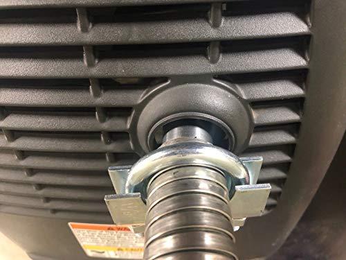 """GenExhaust Compatible with Honda EU2200i/EU2000i/EU1000i Generator 1"""" Steel Exhaust Extension 5 Foot Length."""