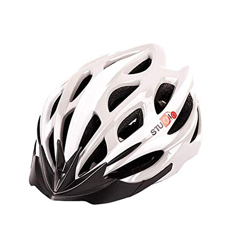 Casco de Bicicleta para Adultos Casco Bici Unisex Ajustable para Ciclismo de Montaña y Carretera Casco Bicicleta con Protección Seguridad para Hombres y Mujeres (Blanco, Talla única)