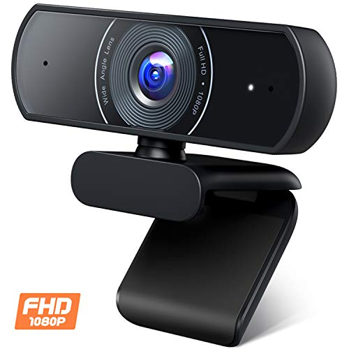 Roffie 1080P Webcam, Dual Built-...