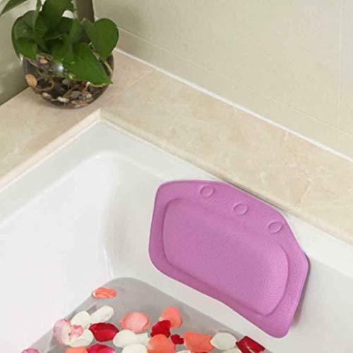 Dergo ☀Comfortable SPA Bath Pillow Bathtub Bathroom Neck Headrest Soft Pad Suction (B)