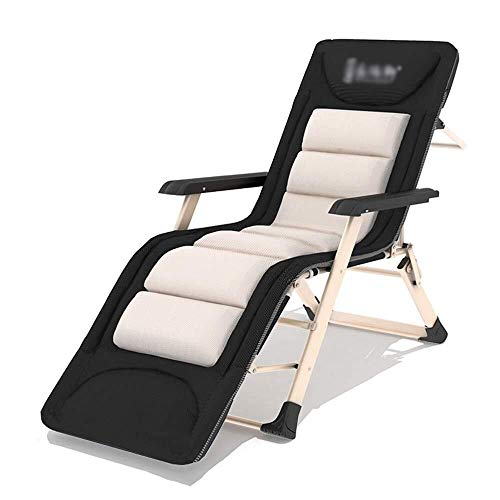 Mr.T Gravity Stuhl Einzelklappbett als Gartenliege Tragbare Sonnenliege Büro Mittagspause Nap-Bett Außen Beach Chair Camp Bett Liegestuhl Bearing Gewicht 150 kg Camping Sessel (Size : L178cm)