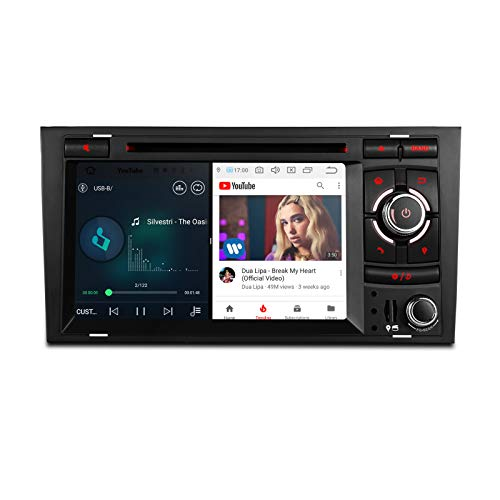 XTRONS Radio para coche, pantalla táctil 7 pulgadas, Android 9.0, reproductor multimedia,...