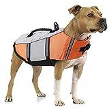 Dog Life Jacket Small,Life Vests Medium for Swimming, Dogs Pool Float Coat Swimsuits Flotation Device Life Preserver Belt Lifesaver Flotation Suit for Pet Bulldog Labrad