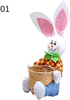 Luggage & Bags Functional Bags Storage Toy Rabbit Gift Candy Decoration Handbag Egg Basket Cute Party Supplies Home Decor Kids Flower Easter Bunny