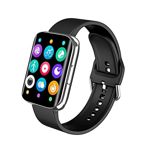 QKA 1.78 Pulgadas HD Smart Watch, Pantalla Curvada Pulsera Inteligente Pulsera Smart Presión Arterial Rate Fitness Tracker Sportswatch para Android iOS,A