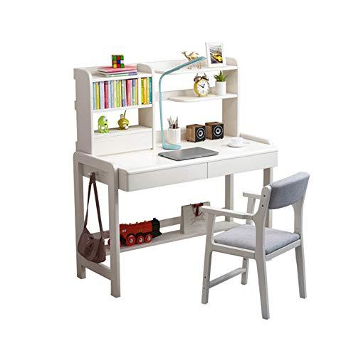XSN Kinderschreibtisch Schülerschreibtisch Sowohl Tische Als Auch Stühle Sind Höhenverstellbar, Kleines Bücherregal Mit 3 Schubladen Computertisch Schreibtisch