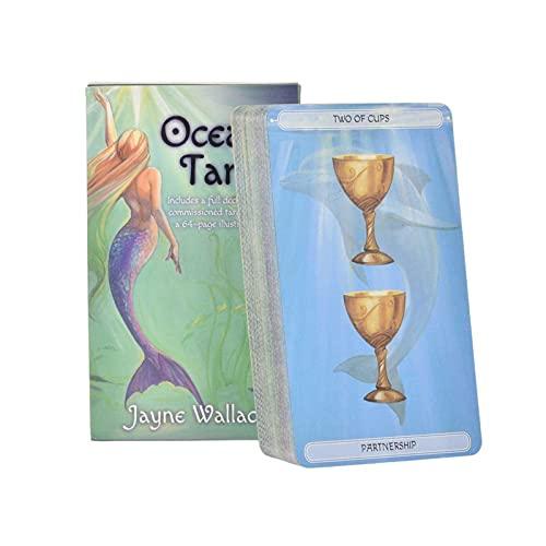 78pcs Tarotkarten Mit Farbkasten, Ozeanischen Tarotkarten, Tarot-Deck, Universal-Vintage-Weissagung Zukünftige Spielkarten-Sets, Tarot-Karten-Set, Tarot-Liebhaber -10x7.5x2.5cm