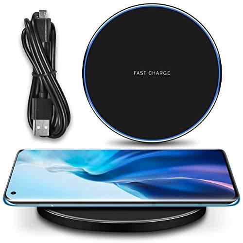 UC-Express QI Wireless Ladestation kompatibel für Xiaomi Mi 11 Kabellos Charger Induktives Universal Schnellladegerät, Farbe:Schwarz