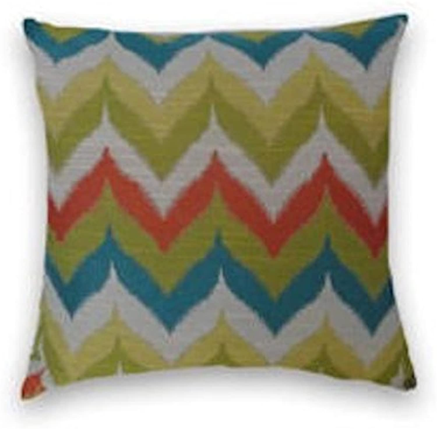 Green blueee gold Chevron Decorative Throw Pillow Cover
