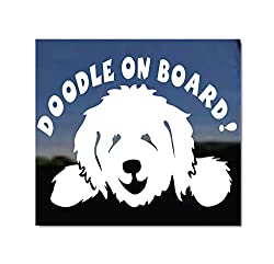 Vinyl car decal that says Doodle on Board, photo