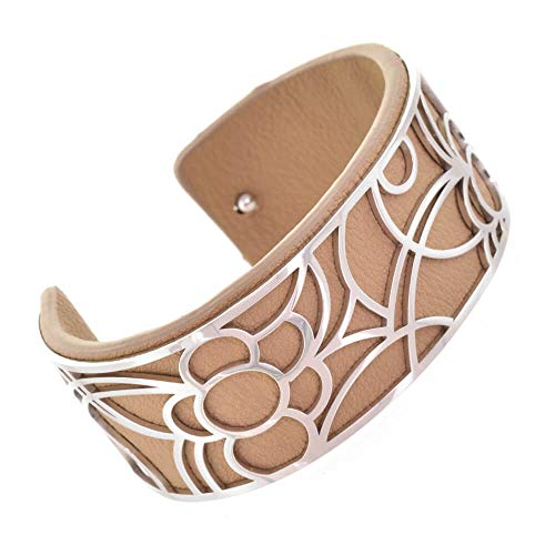 Venta: Divertida joyería de moda: 2,5 cm de alto, flexible, con inserto de goma marrón café extraíble (5 cm x 5,5 cm) (YK35) B