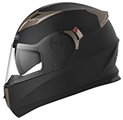 Full Face helmet. Outstanding Aerodynamic ABS Shell and Multi-density EPS. Dual Visor Design : Inner Retractable Smoked Visor + Outer Clear Shield. Quick Release Buckle and Removeable Inner Lining Pads. Adjustable Ventilation System Ensures Air Circu...