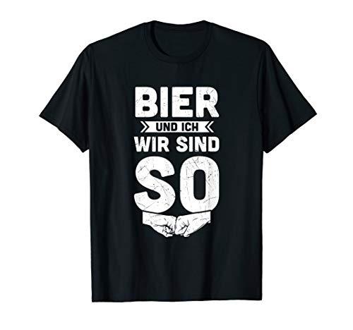 Herren Biergarten Bierfest Dorffest Bierzelt Bier & Ich Wir Sind SO T-Shirt