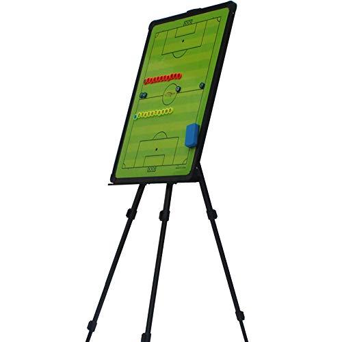Tablero táctico de fútbol con soporte,tablero de enseñanza de fútbol magnético regrabable utilizado para el diseño de tácticas de entrenamiento de juegos de fútbol con piezas de ajedrez magnéticas