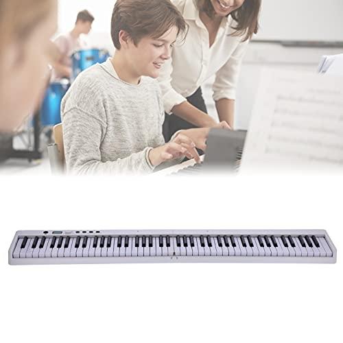 Surebuy Instrumento Musical, Teclado portátil, Piano, relación 1: 1, Fabricado con luz de Teclado para Interiores(White, Pisa Leaning Tower Type)