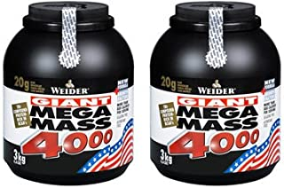 (2 Pack) - Weider Nutrition - Mega Mass 4000 Vanilla | 3000g | 2 PACK BUNDLE