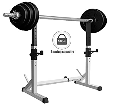 Alderman Adjustable Squat Rack Dipping Station Barbell Rack Dip Stand Fitness Bench Press Equipment Home & Gym Multifunction Barbell Rack, Squat Barbell Power Rack Stand Weight Lifting