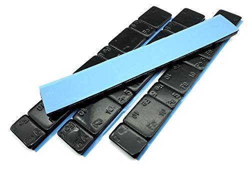 Felgenfactory 240g Auswuchtgewichte Schwarz 4x60g Riegel 5g+10g Aufteilung mit Abrisskante